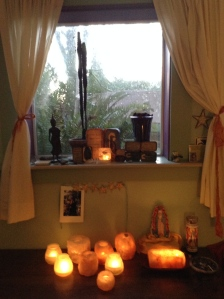 Altar in my healing bower