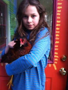 Martin and his 4H show chicken, Esme. For all of you who requested more chicken photos.