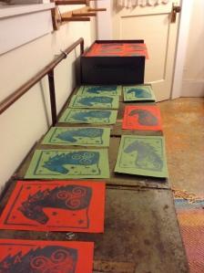 Drying Pooka Prints
