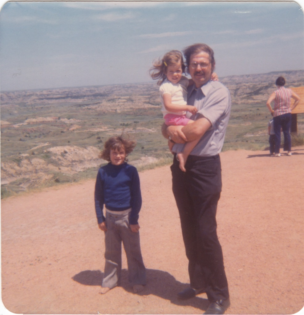 In the Badlands with my Dad and older brother Bob 1973. We are not simply tourists on this Earth. She is our Home.