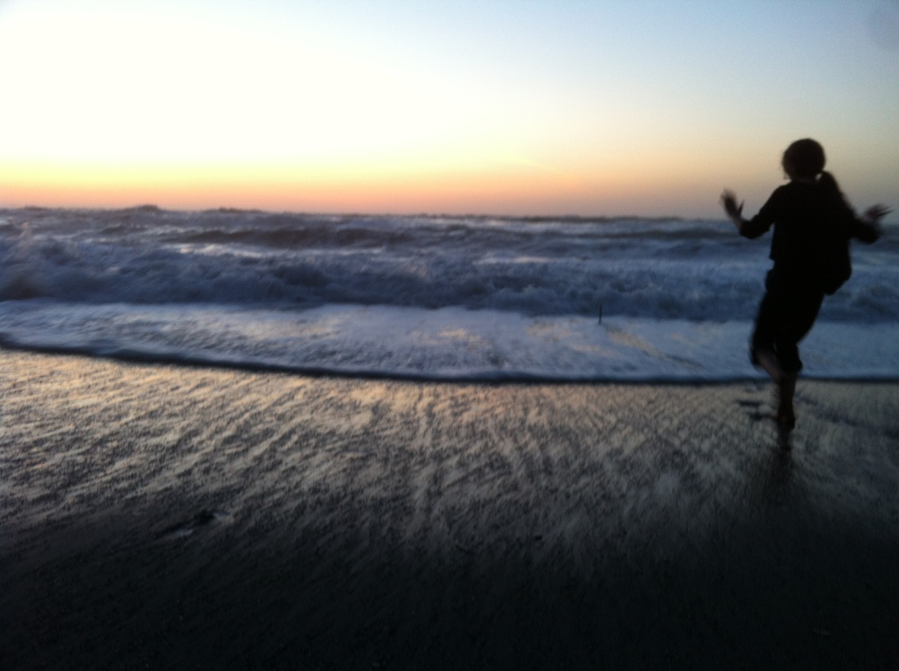 Martin dancing in the waves on the Central Oregon Coast 2013
