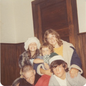"Being ""Old"" with four of my older siblings, Margaret, Mary, Bob and Patrick"