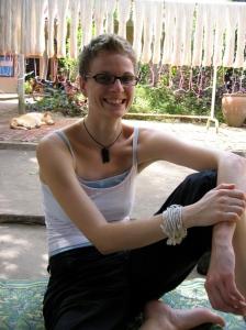 Sandra in Laos in November 2005