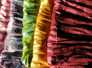 Rainbow with dyed with natural dyes.