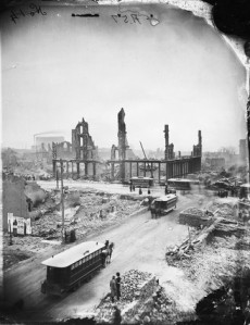Image from the Great Chicago Fire of 1871