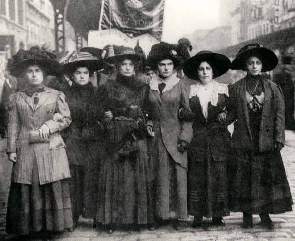 Women from the Shirtwaist Strike of 1909- they risked much to improve their lives and the lives of their children.