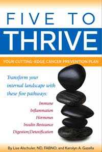 Five to Thrive is a book I initially checked out of the Breast Cancer Library at St. Vincent Hospital. A lot of good information. The authors have a good website that continues their work, including podcasts.