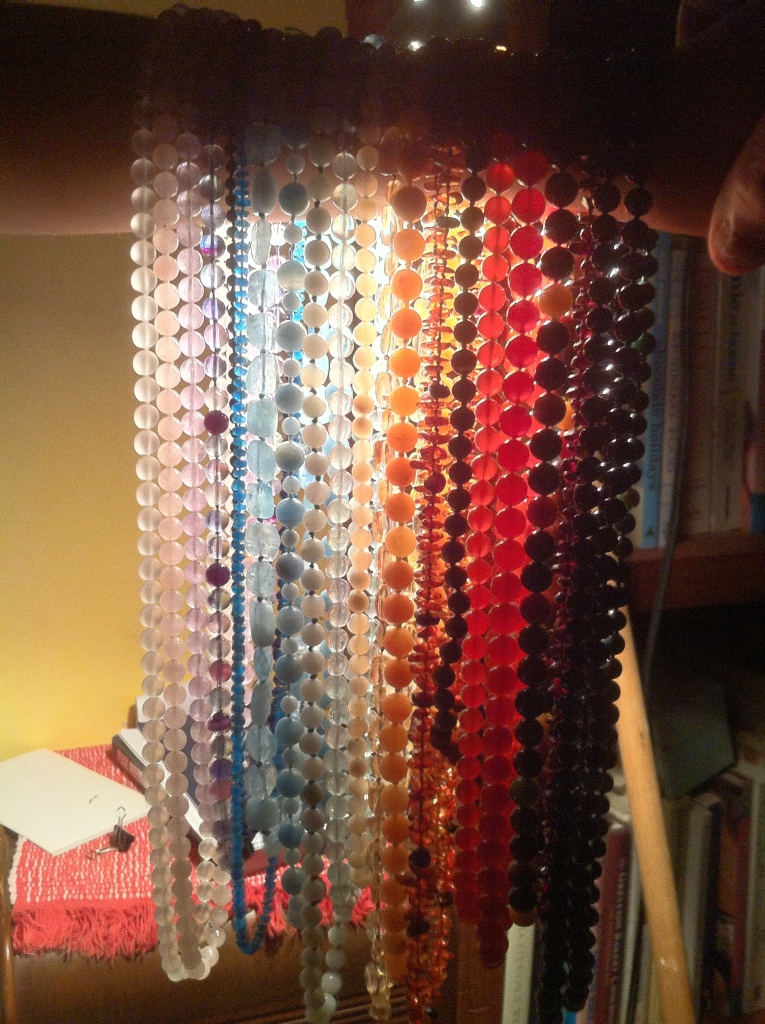 Gemstone necklace rainbow