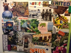 Our family Collage that we made at the retreat.