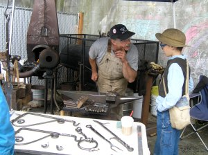 David Curl Set up his Black Smith forge at the 2008 Lughnasa Festival that I organized.