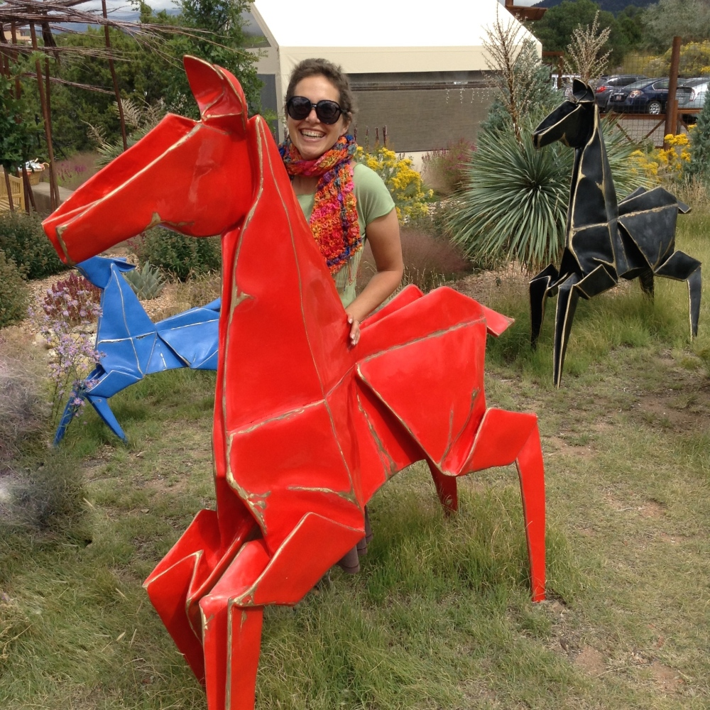 Origami Pooka at the Sante fe Botanical Gardens