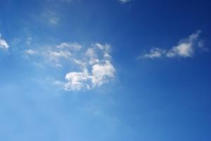 blue blue skies.