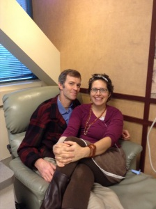I was queen for the day in the infusion room, as it was my last day.