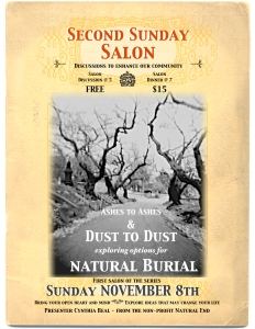 Flyer from the Natural Burial Salon in 2009