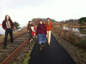 The Family Daire on a walk Christmas Day.