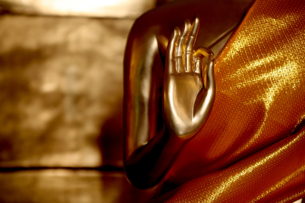 The golden light of the Buddha.