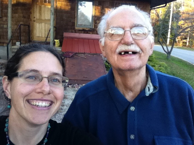 Selfie with my Dad, in October 2010, as we were loading up to leave the last time I saw him. He died a few months later in February 2011.
