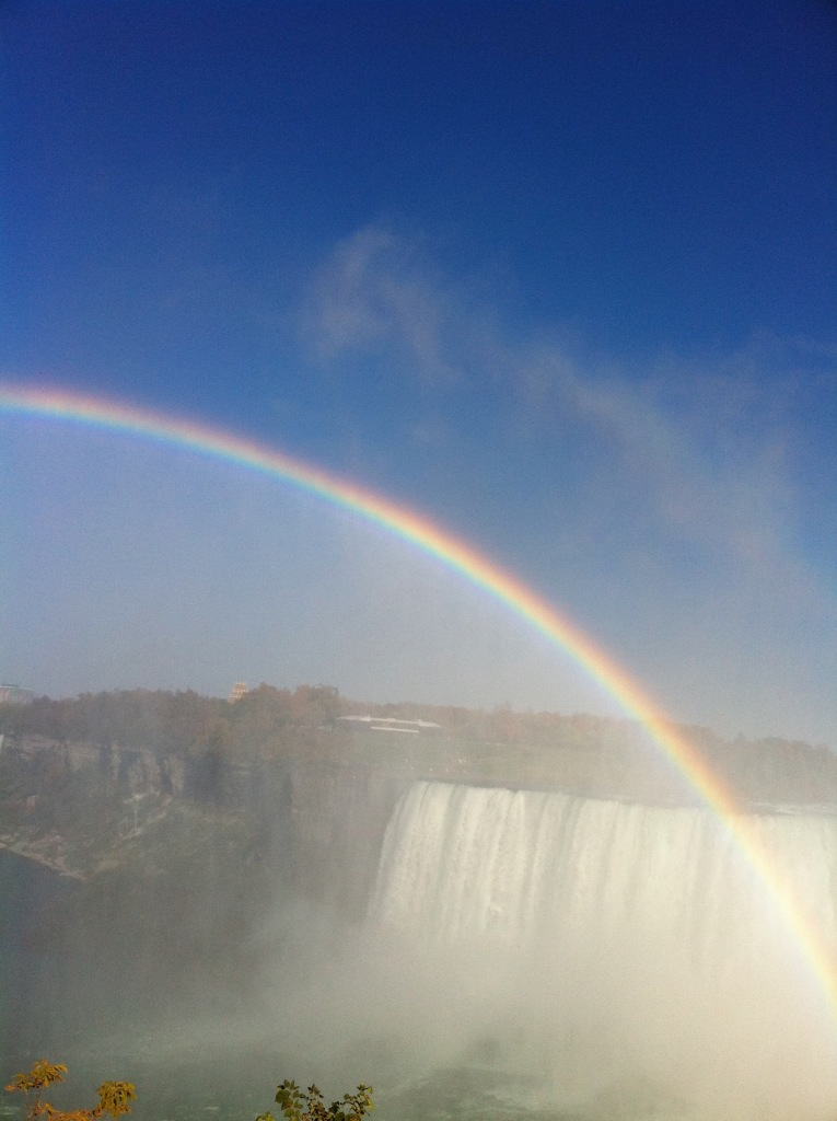Rainbow at Niagara Falls- proof that there is beauty in the world.