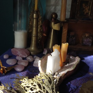 I use the beeswax candle stubs from my altar to make salves.