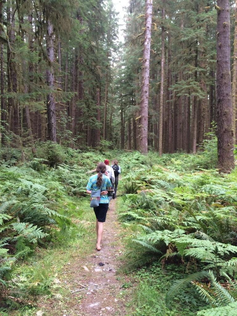 Walking the Sam's Loop trail.