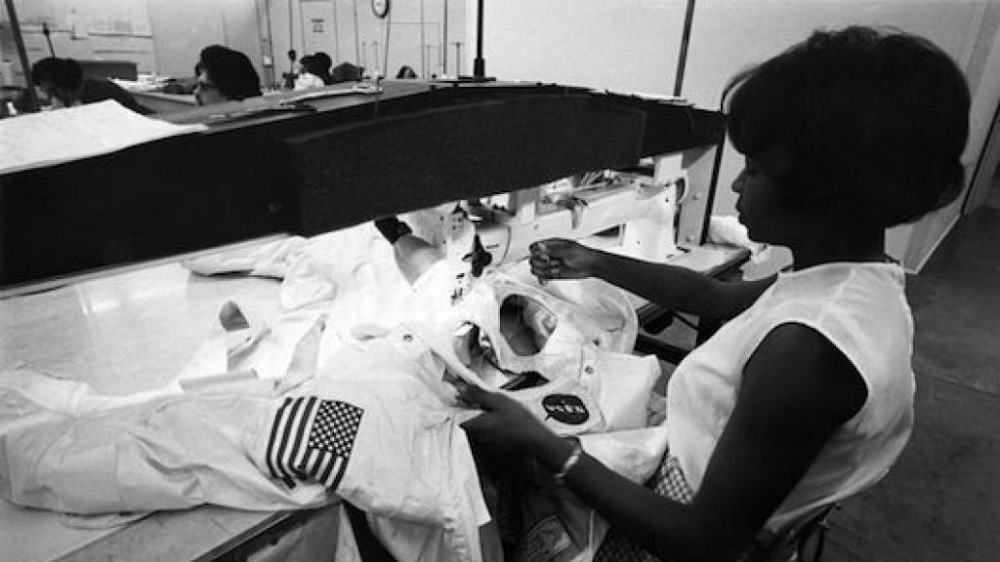 Seamstress Working on an Apollo Space suit.