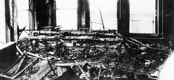 The aftermath of the fire.