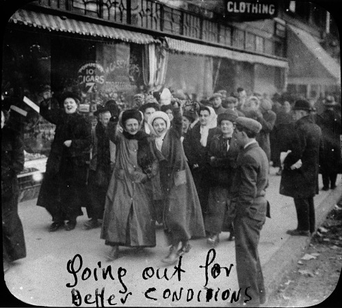 The Shirtwaist strike started in fall of 1909 and extended through the bitter winter months of 1910.