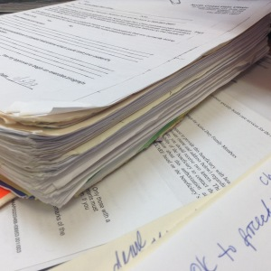 so much paper on my desk at work...